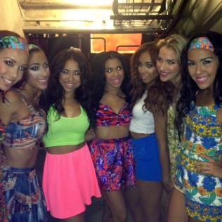 Backstage before our Performance with Leslie Grace